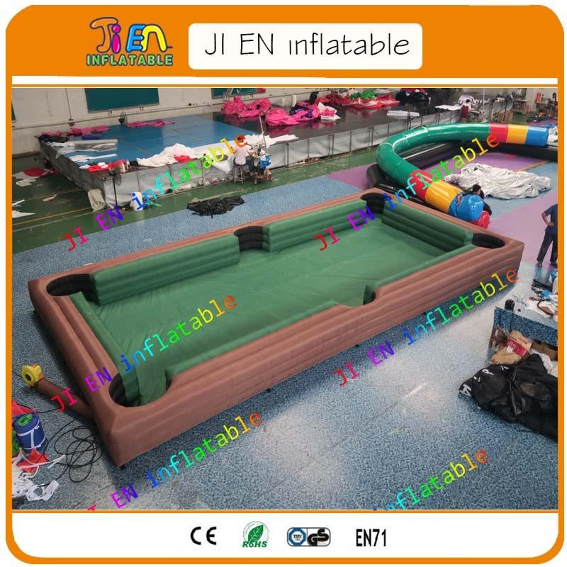 Envío aéreo gratis a la puerta, 10x5x0,6 mH gigante adulto al aire libre inflable snookball piscina Mesa campo de fútbol/fútbol snooker deporte juego