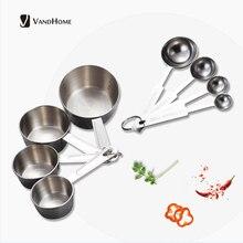 VandHome Edelstahl Messlöffel Küche Mess Scoop Tasse Für Backen Tee Kaffee Kichen Zubehör Mess Werkzeug Set