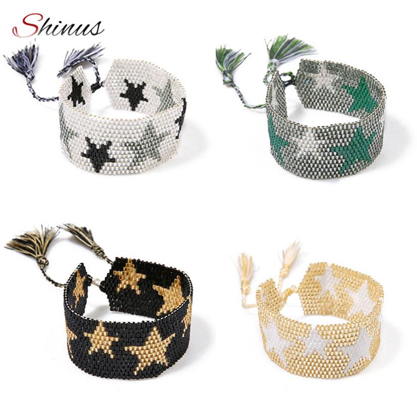 Браслет SHINUS MIYUKI, женские браслеты в стиле бохо, женские летние украшения ручной работы, пляжный Подарочный аксессуар, 2020
