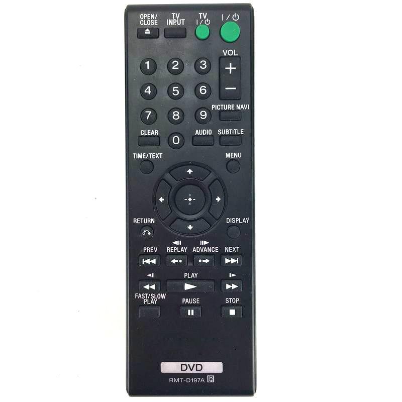 Nowy wymienić RMT-D197A dla Sony ODTWARZACZ DVD pilot zdalnego sterowania DVPSR201P DVP-SR210 DVPSR210P DVP-SR210P DVPSR405P DVP-SR510
