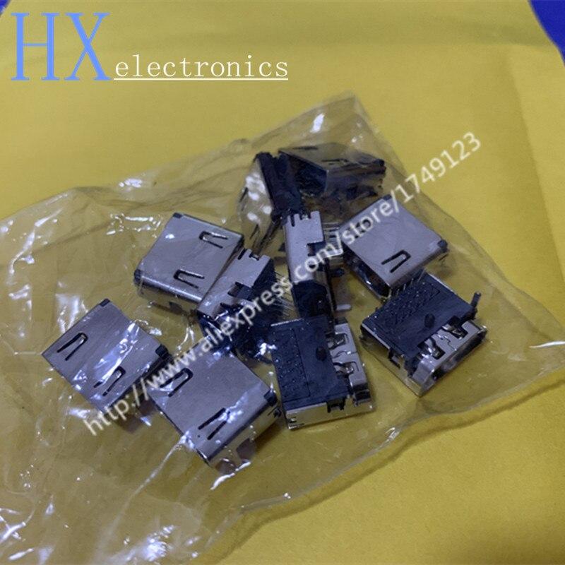 لوحة لحام بمقبس HDTV ، 100 قطعة ، 19 بكسل ، ثلاثة صفوف ، HDMI ، 90 درجة ، منحني