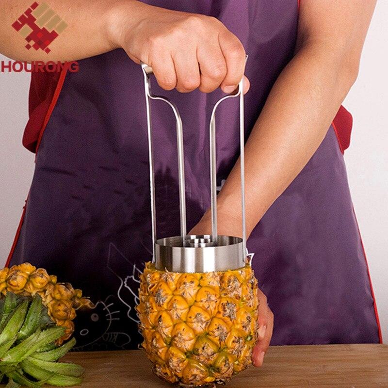 Hourong nuevo diseño de acero inoxidable fruta piña Corer rebanadores/pelador de frutas pelado utensilios de cocina