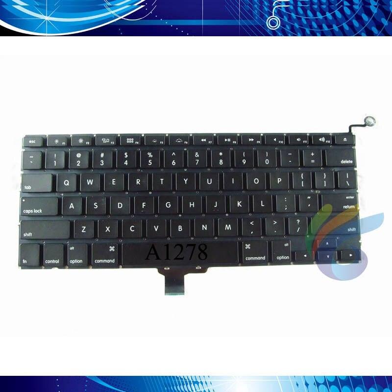 Teclado A1278 para macbook pro 13,3 estándar ruso España EE. UU. Reino Unido Corea Alemania teclado sin luz de fondo