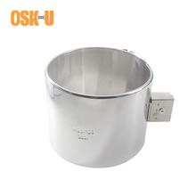 Élément chauffant industriel électrique en acier inoxydable 120mm ID 50/60/70/80mm hauteur chauffage en céramique puissance en watts 550/650/750/900W
