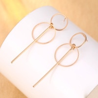 2020 New Fashion Earrings Punk Simple Gold/ Silver Color Section Tassel Pendant Size Circle Earrings For Ladies Gifts Wholesale