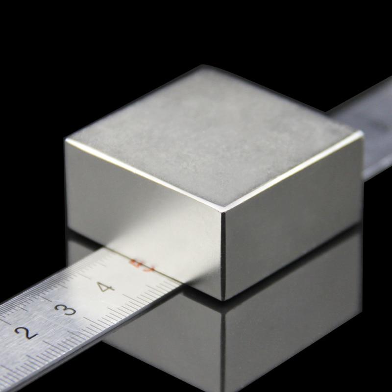 Super Powerful Strong N52 40x40x20mm magnet Rare Earth Block NdFeB Neodymium Magnet N40 N52 D40mm Magnets