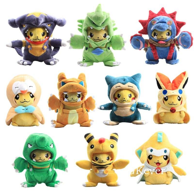 10 estilos anime figura brinquedo bonecas charizard snorlax pikahcu cosplay macio brinquedos de pelúcia 15-25 cm kawaii animais de pelúcia presente
