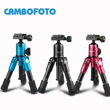 CAMBOFOTO M225 + CK30 Portatile Treppiede In Alluminio Desktop Compatto Macro Mini Tavolo Treppiede con Testa A Sfera per Sony Canon Nikon fotocamera