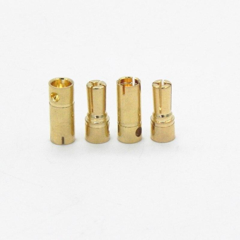 50 زوج/وحدة 4.8 مللي متر الذهب مطلي الموز موصل رصاصة المكونات لل RC بطارية موتور ESC جزء FS0172