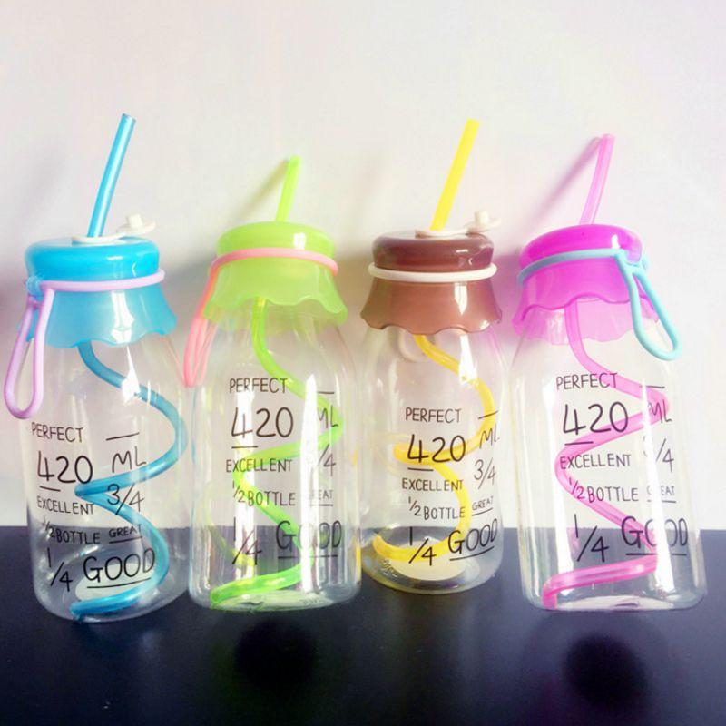 The New my water bottle summer straw bottles cover Leakproof botle plastic botella de agua garrafas drink  jarra de   suco