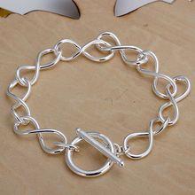 H139 925 délicat couleur argent Bracelets pour femme breloque mode bijoux 8 forme Bracelet /afmaiwta Axsajoza