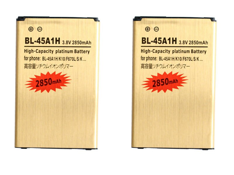 Seasonye 2 unids/lote 2850 mAh BL-45A1H/BL45A1H oro batería de repuesto para la batería de LG K10 F670L F670K F670S F670 K420N K10 LTE Q10 K420
