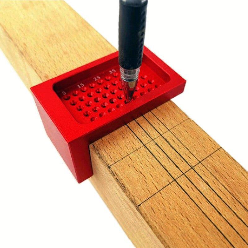 50mm t-tipo ferramenta de medição scriber marca carpintaria buraco posicionamento cruz calibre liga de alumínio régua
