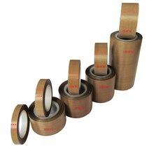 1Pc 0,13mm x5/8/10/13/15/19/20/25/ 30/38/40/50/60/100/200/300mm x 10Meter PTFE klebeband Nonstick Kostenloser Versand Kaffee