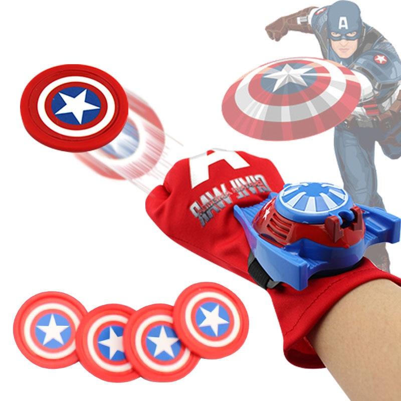 5 estilos de PVC 24cm Spiderman Batman Capitán América Iron Man Hulk Batman guante de acción figura de juguete adecuado Cosplay disfraz de juguete