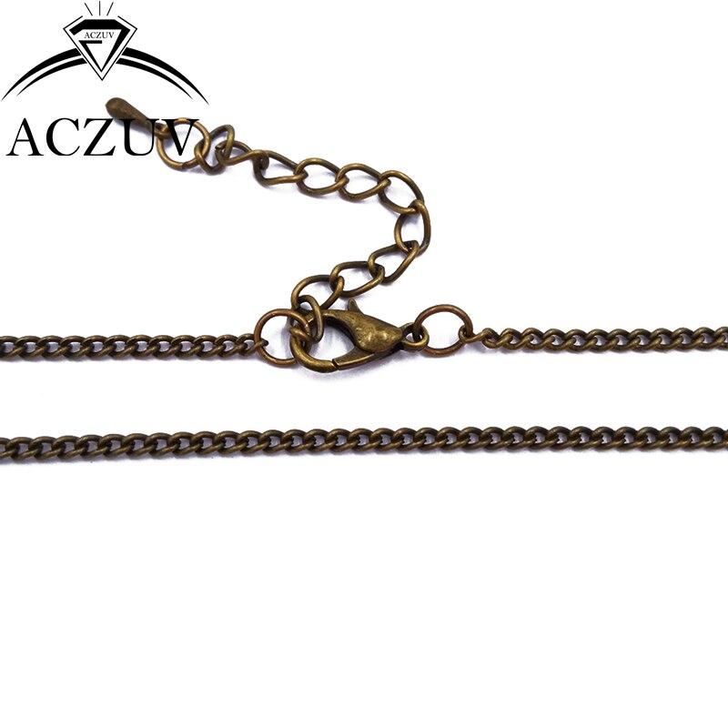 100 قطعة 2 مللي متر 20 سنتيمتر إلى 80 سنتيمتر العتيقة برونزية المعادن التشفير سلسلة للتقييد القلائد أساور ساعة سلاسل للمجوهرات قلادة FCC005