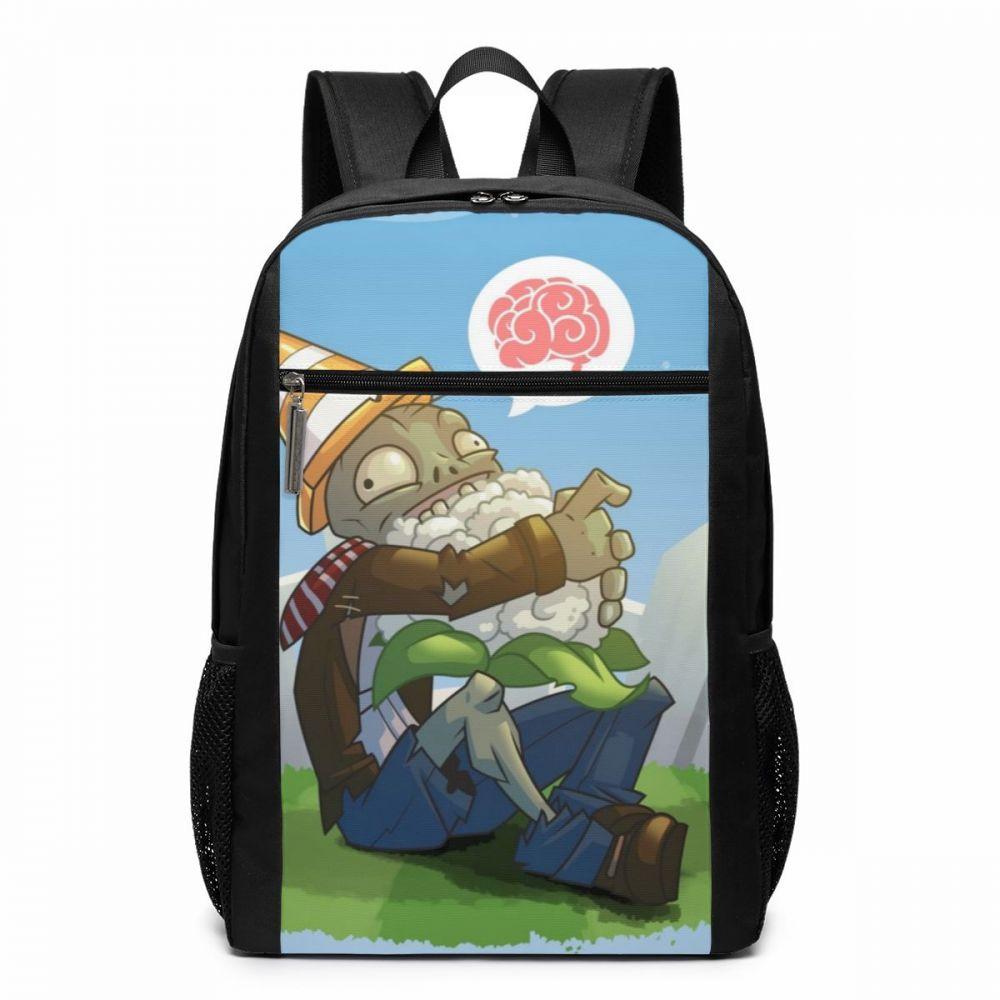 Mochila zombis 0009 de Plants Vs, mochilas Vegan braaiinsss, mochila con patrón para hombre y mujer, mochilas de alta calidad a la moda para escuela y adolescentes