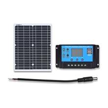 Painel solar flexível 20w 18 v de boguang com controlador de 12 v 10a para o lítio ou o carregamento da bateria acidificada ao chumbo