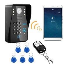 Alpinon-sonnette de porte-téléphone WIFI   Sans fil, RFID mot de passe vidéo, système dinterphone à Vision nocturne, système de contrôle daccès étanche