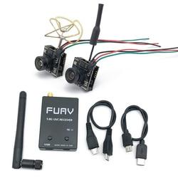 5.8g fpv receptor uvc vídeo downlink otg vr telefone android + ewrf 7082vr transmissor 5.8g 48ch vtx 700tvl 120 graus fpv câmera