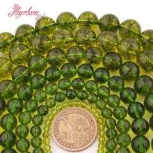Lisse rond vert péridot entretoise perles en vrac brin 15 pouces pour collier Bracelet bricolage bijoux faisant la livraison gratuite