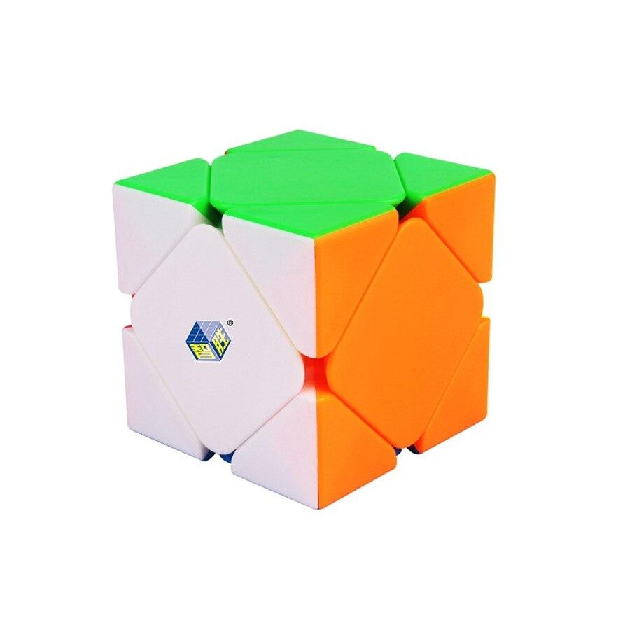 Negro Kylin Skew de 3x3x3 velocidad cubo mágico giro rompecabezas Rompecabezas 3x3 Yuxin 56mm Multi-Color suave Stickerless juego de inteligencia ABS