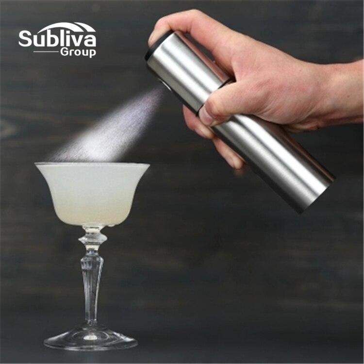 Pompe de pulvérisation en acier inoxydable   Pompe à brume Fine pour Olive, bouteille de pulvérisation de vin, Cocktail Bitters, bouteille de pulvérisation de flamme, accessoires de Bar
