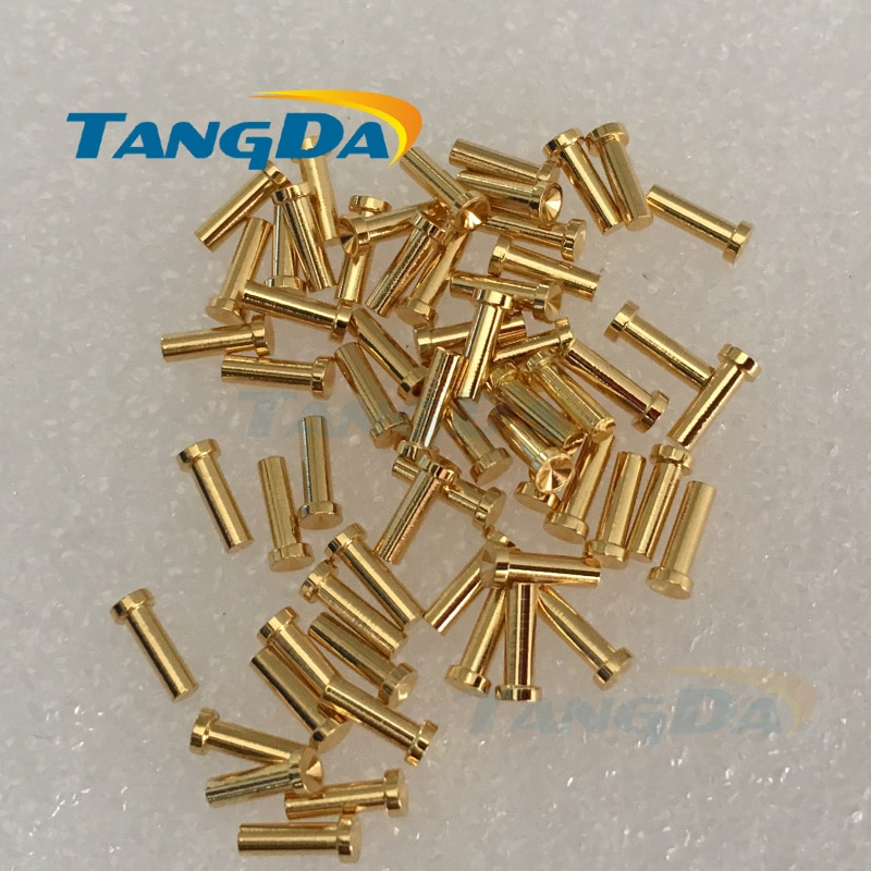 Tangda-موصل إبرة زنبركي ، 2*4.9 مللي متر ، رأس دائري ، دبوس تلامس A.