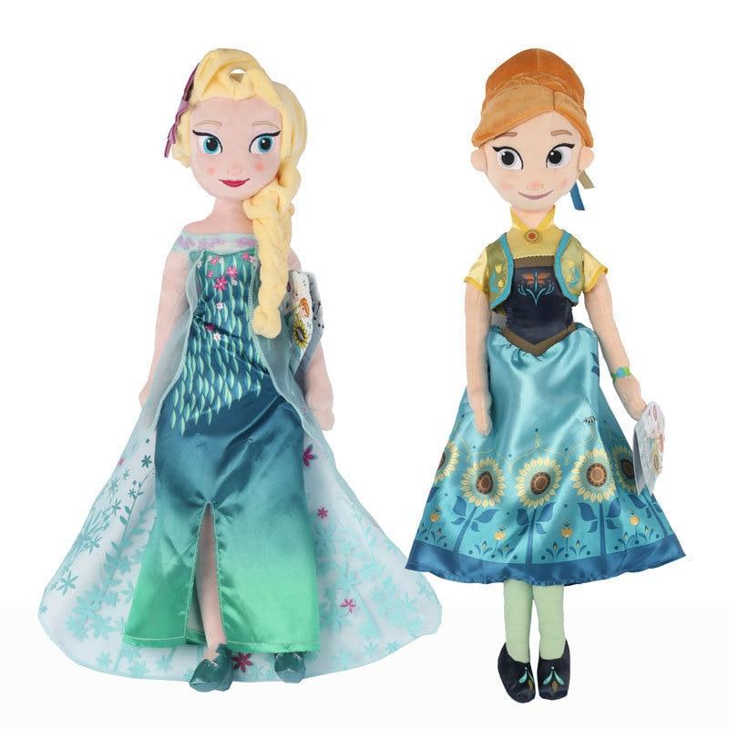 Disney princess children doll toy Frozen Elsa plush doll toy girl baby birthday gift plush stuffed doll Anna kid lovely rag doll