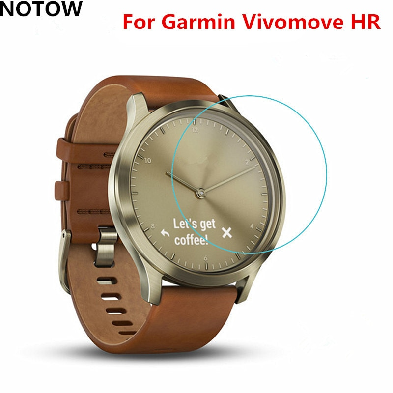 NOTOW nuevo claro 9 H 2.5D súper fino resistente a los arañazos Protector de pantalla de vidrio endurecido cubierta de la película para Garmin Vivomove HR