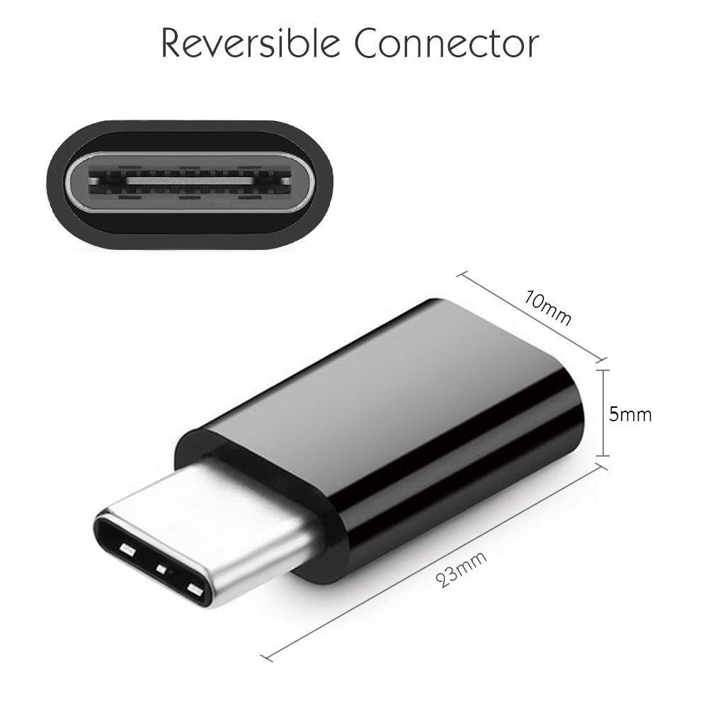 Adaptador Micro USB a TYPE-C 3,1 para cable auxiliar usb tipo c...