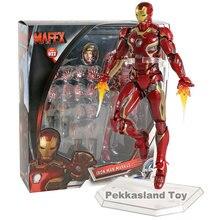 MAFEX NO. 022 Iron Man Mark MK 45 PVC Action Figure Da Collezione Model Toy