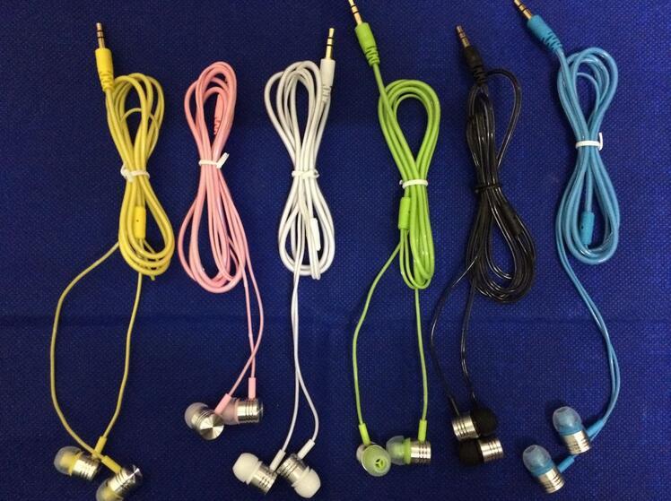 Auricular de pistón Universal línea de cristal colorida en la oreja anillo de cobre estéreo para auriculares Xiaomi para todos los teléfonos móviles