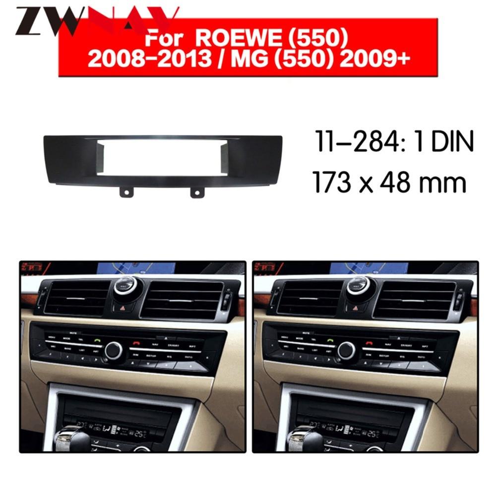 Reproductor de DVD del coche marco para 2008-2013 ROEWE 550/ 2009 + ROVER MG6 1DIN Auto AC negro LHD RHD Auto Radio Multimedia NAVI fascia