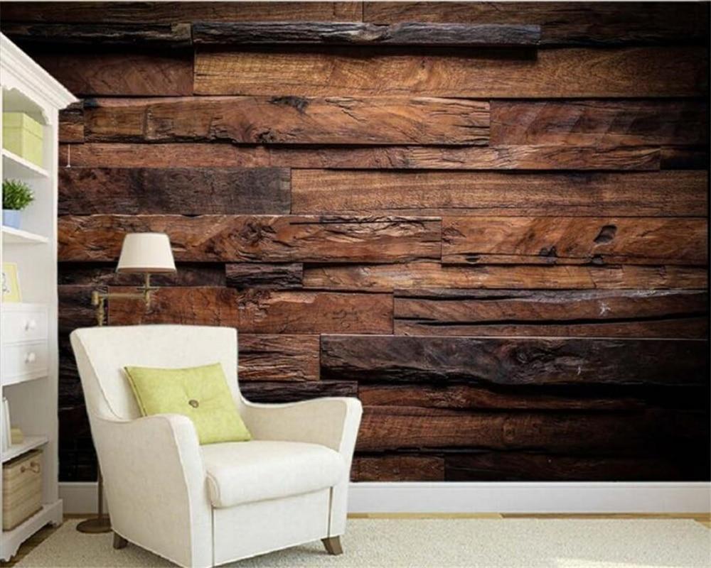 Papel de parede anpassen Decke 3D Tapete Dark Retro Nostalgischen Gestreiften Wohnzimmer TV Wand tapeten wohnkultur beibehang