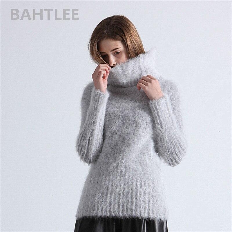 Suéter de angora de invierno con cuello alto de BAHTLEE, suéter de punto para mujer, suéter de punto para mujer, Jersey de punto para mujer coltrui
