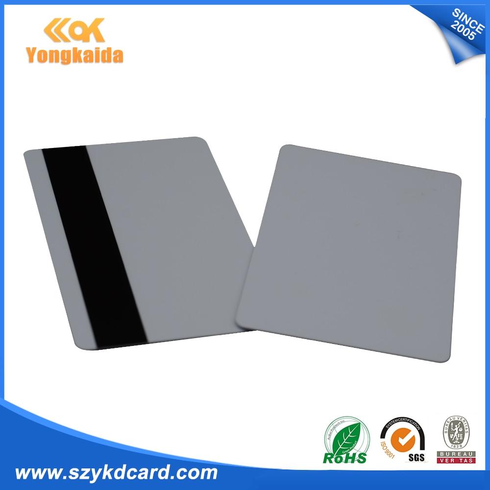 Tarjeta en blanco YongKaiDa 1000 Uds pvc cr80 con tarjeta de banda magnética HiCo