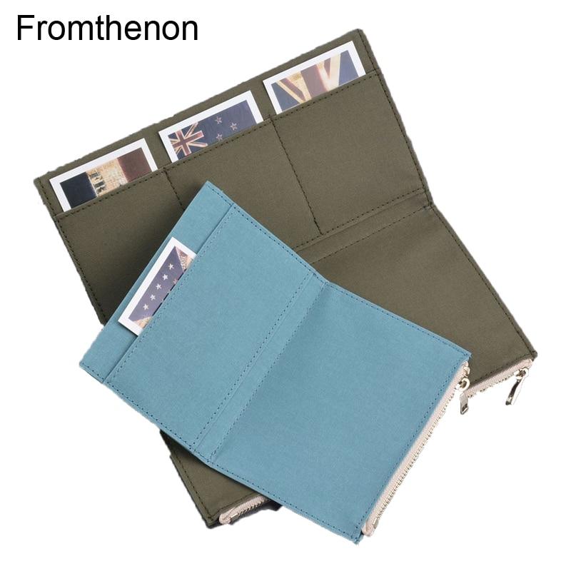 Fromthenon Vintage Storage Bag For Midori Travelers Notebook Zipper Pocket Retro Canvas Card Holder File bag School Stationery
