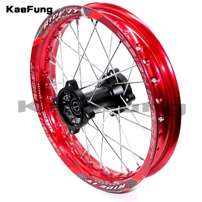 "Dirt Pit Bike-ruedas traseras de 14 "", 1,85x14"", piezas MX para KAYO BSE Apollo Xmotos CRF50 CRF70 KLX110 TTR110 125 140 160cc"