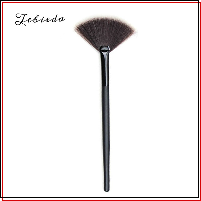 Tebieda 1Pcs Fan Shape Powder Concealer Blending Brush Professional Highlighter Foundation Cosmetic