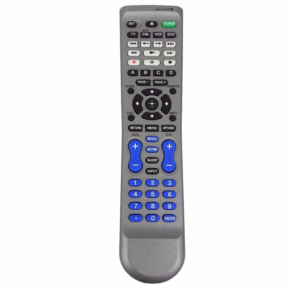 NEW Original for Sony RM-VZ220 Universal Remote Control TV/DVD Fernbedienung new rm sdrmv150a replacement for jvc dvd rm sdrmv150a rm sdrmv100a drmv80b drmv150 drmv100b drmv7 drmv77s dvd remote control