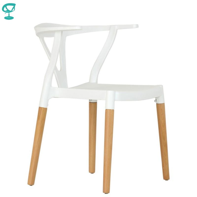95425 Barneo N-218 de madera de plástico de cocina desayuno taburete para interiores Silla de Bar muebles de cocina blanco envío gratuito en Rusia