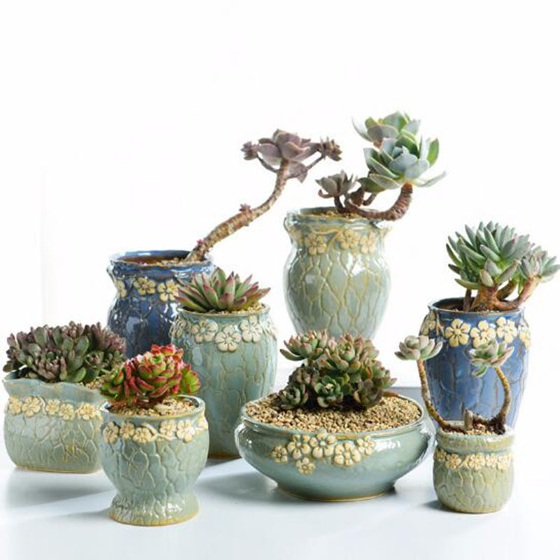 Суккулентные растения цветочный горшок маленький и средний размер ваза ретро цветочный горшок креативные поделки настольные украшения пл...