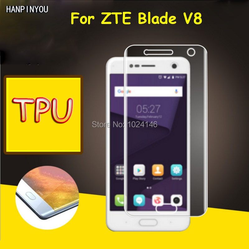Full Coverage Clear Soft TPU Film Screen Protector Guard For ZTE Blade V8 5.2