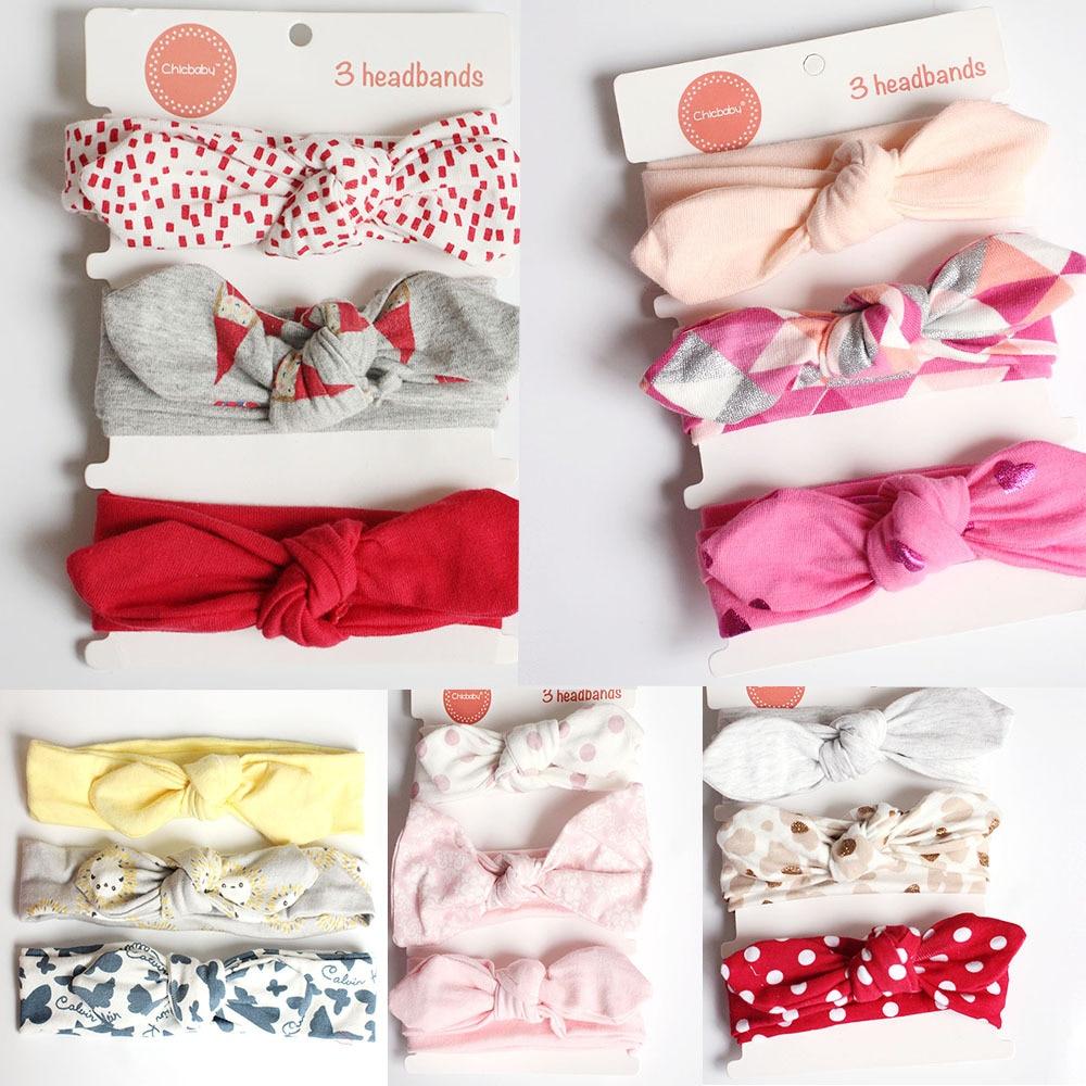 Yundfly 3pcs/lot Baby Girl Headband for Newborn Babies Hair Band Elastic Turban Head Wraps Hair Accessories Bandage Headwear
