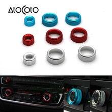 3 uds AC Control Radio mando anillo pegatinas para cubierta BMW tableta amortiguador Tech accesorio beige Rojo Negro compruebe Tartan tableta amortiguador 3GT 4 Series (F20 F22 F30 F31 F32 F33 F80 F82 F87)