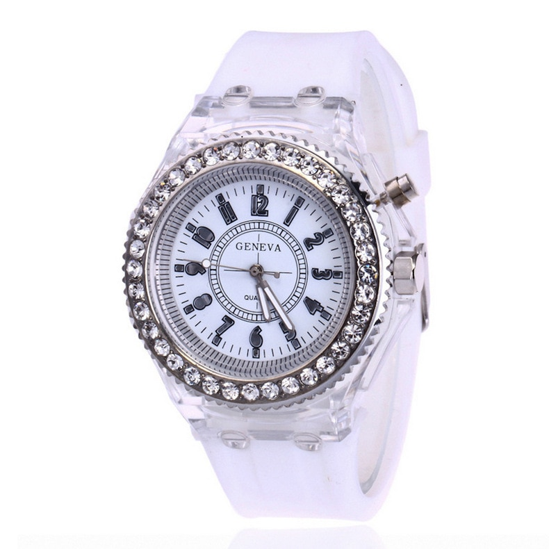 Yueshang LED Flash Luminous Watch Personality Trends Students Lovers jellies Woman Men's Watches 12