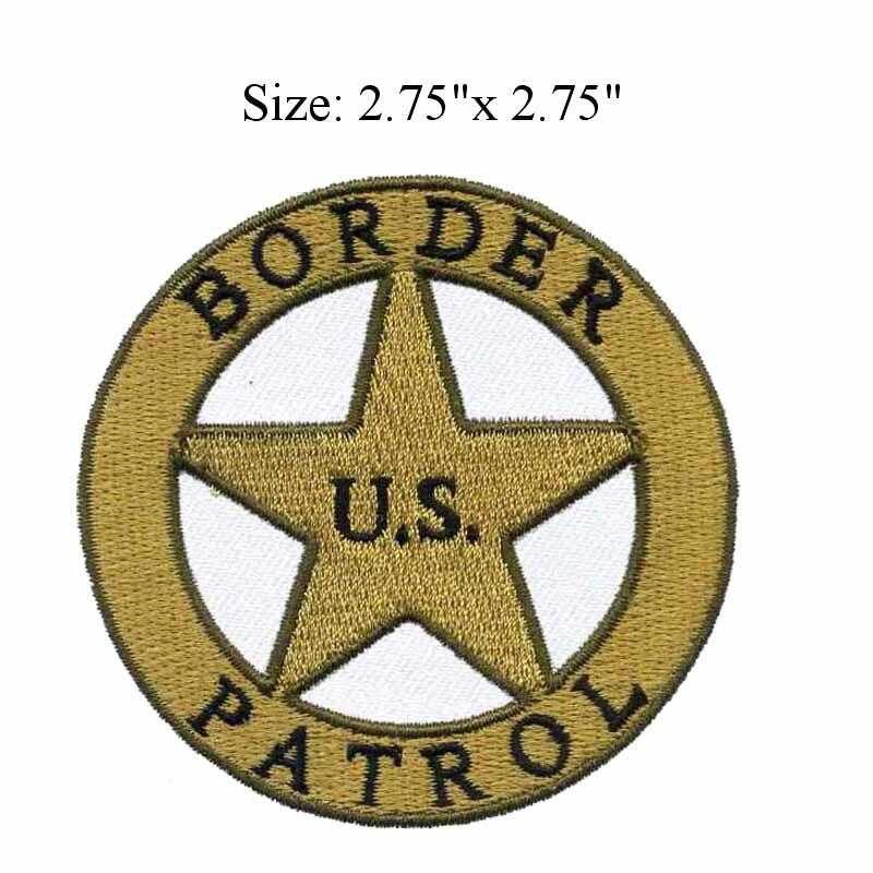 Patch brodé bordure américaine   Autocollant de 2.75
