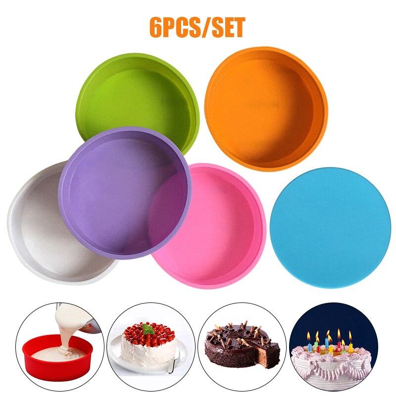 Caliente 6 pulgadas redondo molde de silicona para chocolate y pasteles Fondant molde para mousse suministros de panadería TI99