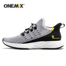 Onemix chaussures de course légères chaussures Tennis chaussures de Fitness chaussures élastiques hommes baskets 2019 chaussures de course respirant réfléchissant